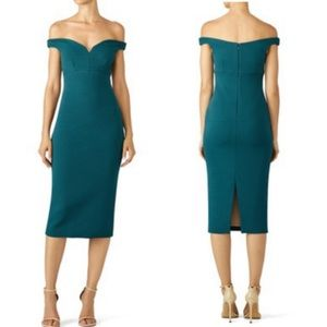 Cinq a Sept | 4 Garnet Dress Teal off Shoulder